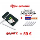 Pack Slimy + 1 pack de 5 cartomiseurs ENERGY DRINK !